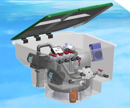 一体化游泳池水处理过滤系统